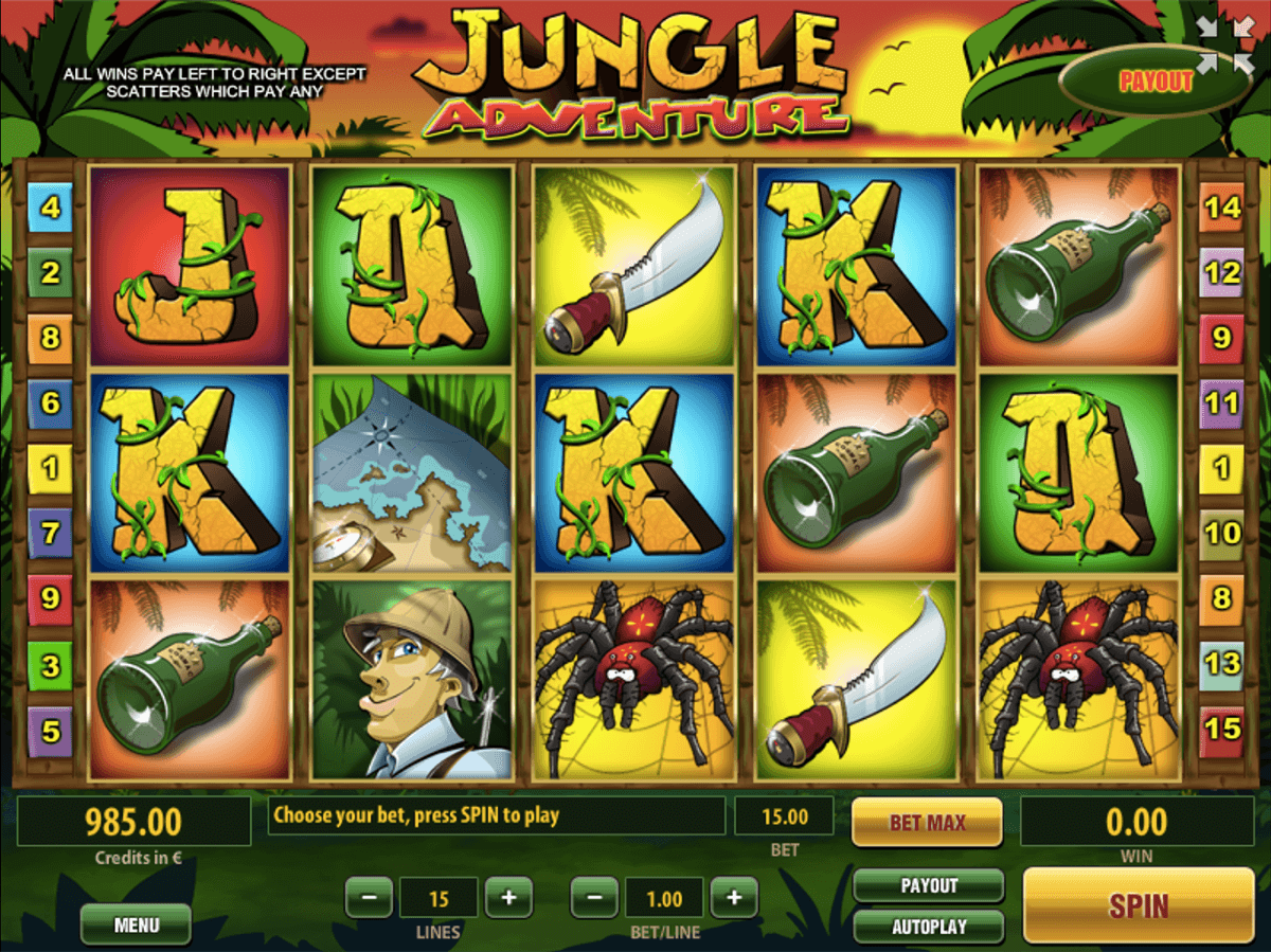 JUNGLE ADVENTURE TOM HORN CASINO SLOTS