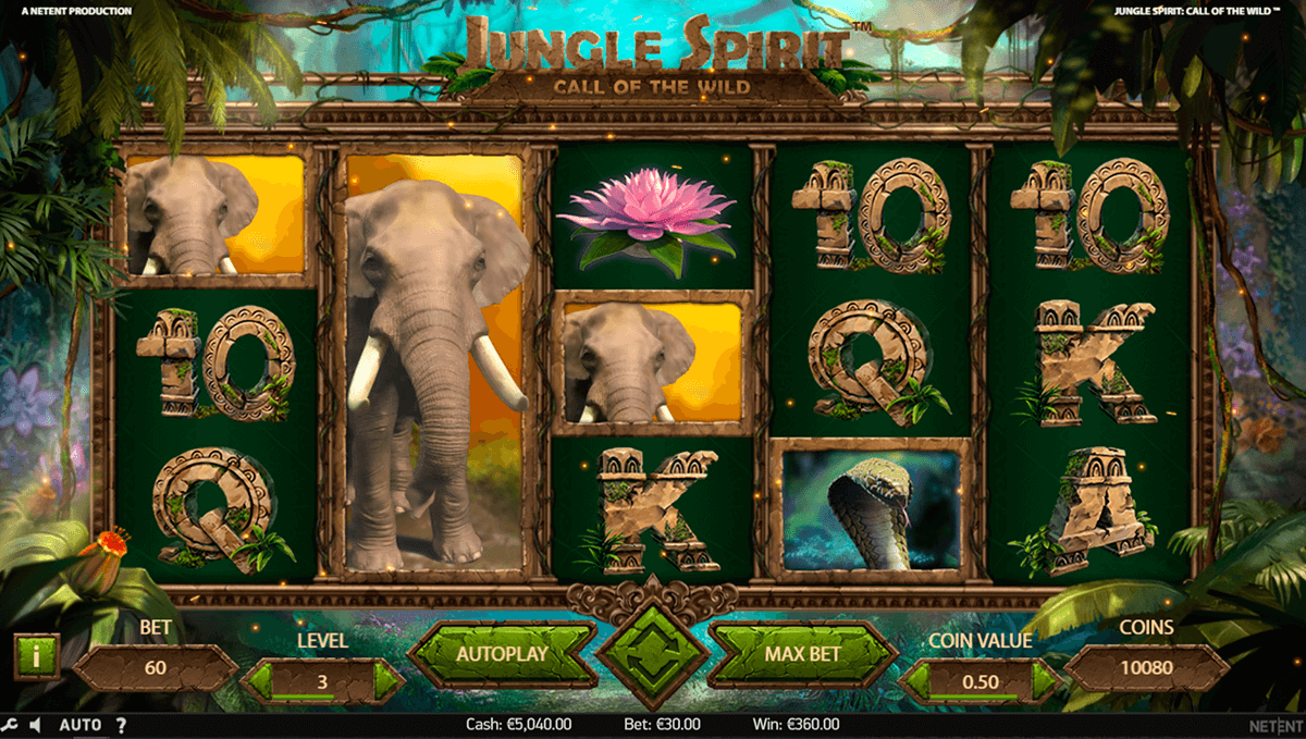 jungle spirit call of the wild netent casino slots