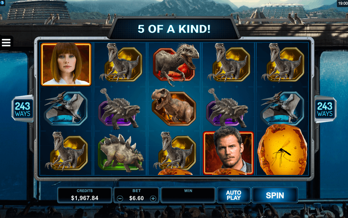 JURASSIC WORLD MICROGAMING CASINO SLOTS