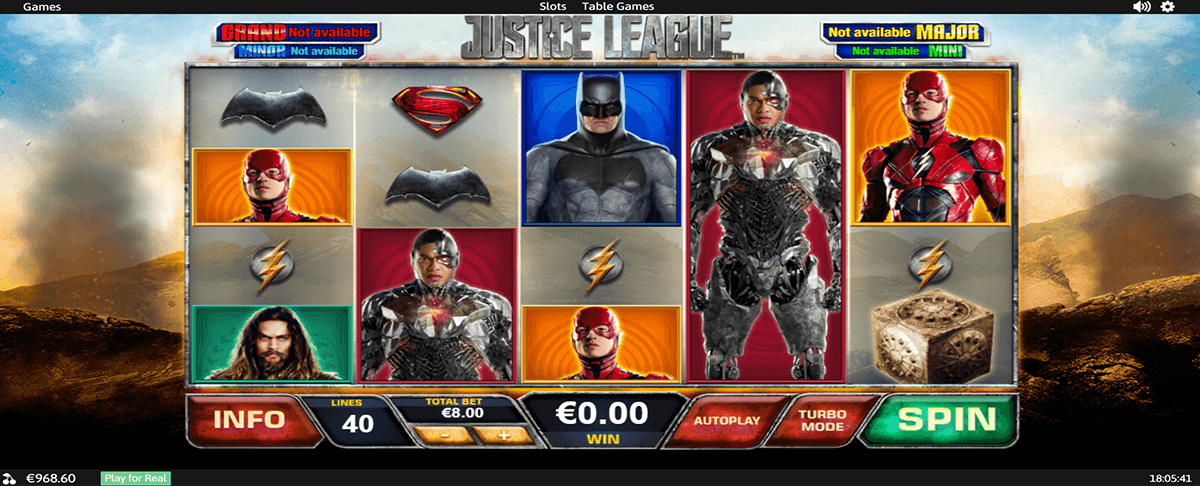 JUSTICE LEAGUE PLAYTECH CASINO SLOTS