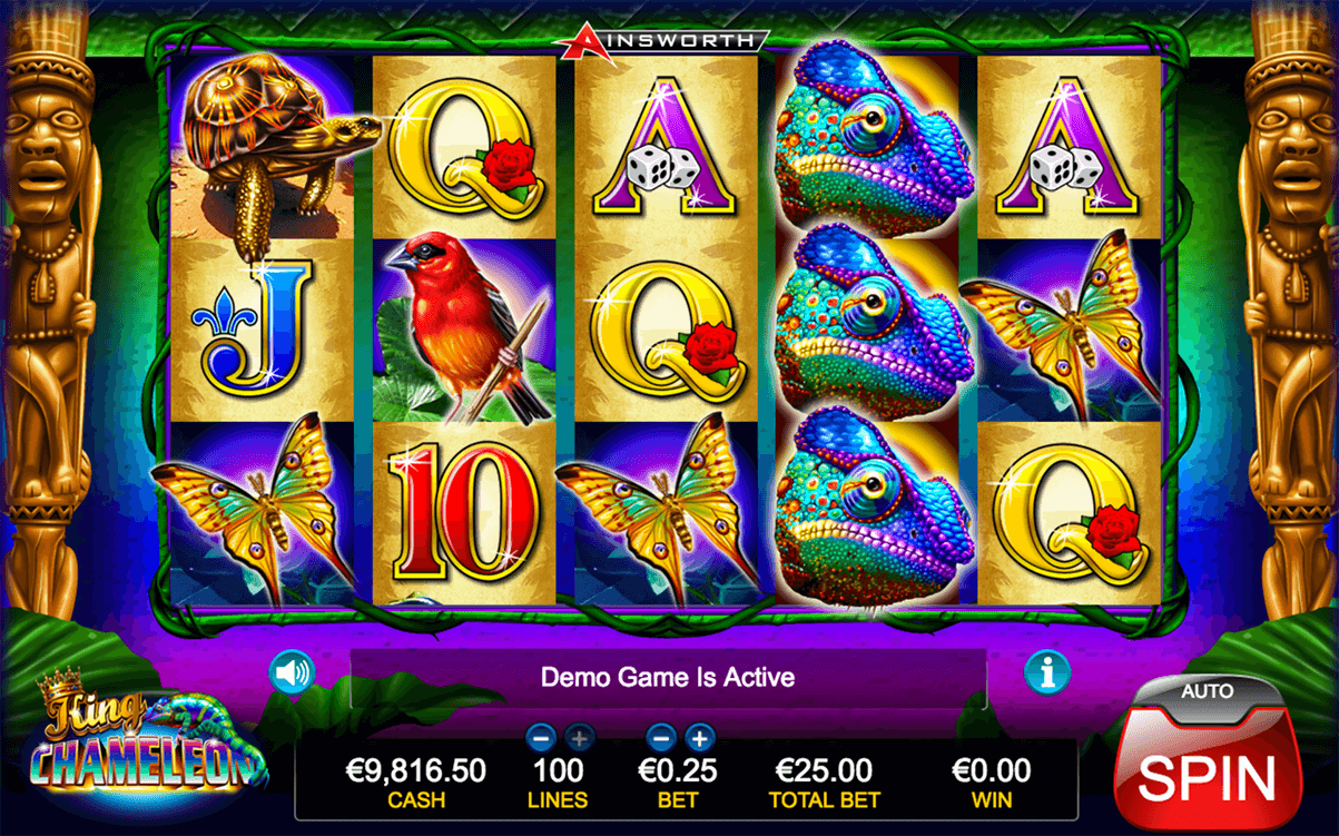 king chameleon ainsworth casino slots