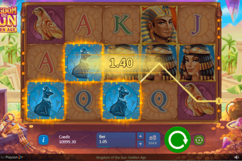 KINGDOM OF THE SUN GOLDEN AGE PLAYSON CASINO SLOTS