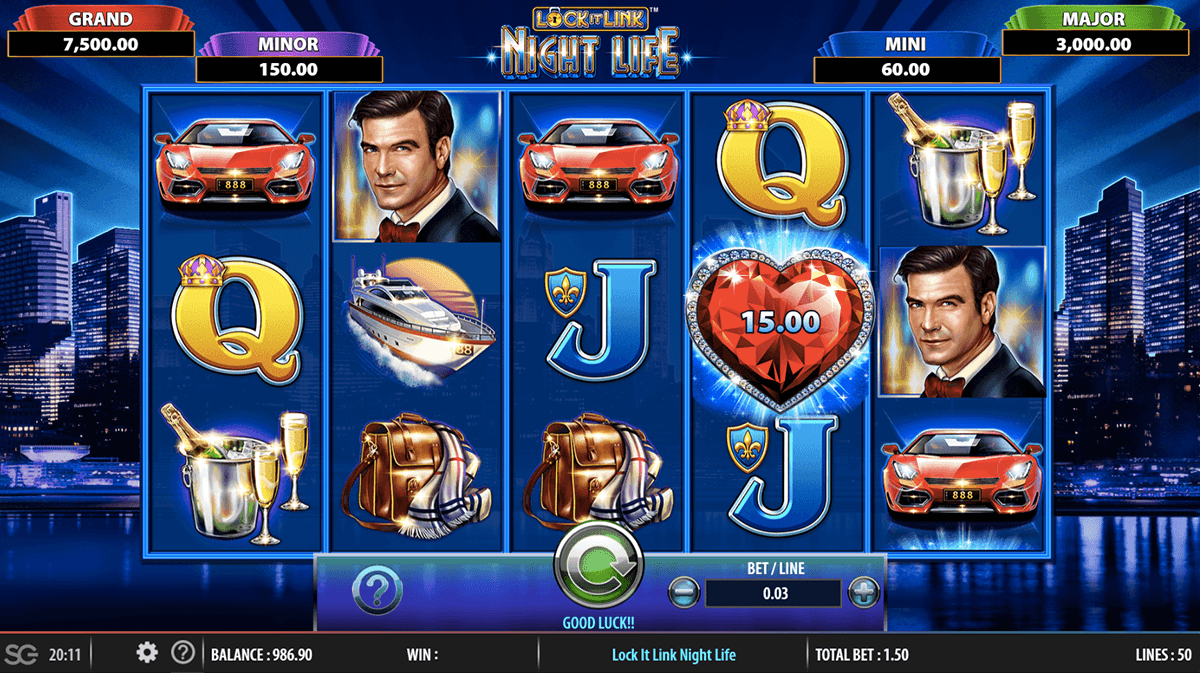LOCK IT LINK NIGHTLIFE WMS CASINO SLOTS