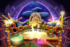 logo book of magic wazdan slot game