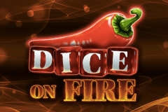 logo dice on fire stake logic slot game