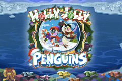 logo holly jolly penguins microgaming slot game