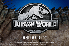 logo jurassic world microgaming slot game