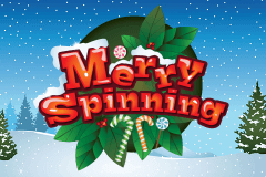 logo merry spinning booming games slot game