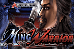 logo ming warrior ainsworth slot game