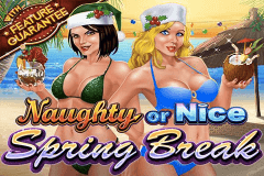 logo naughty or nice spring break rtg slot game