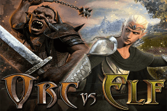logo orc vs elf rtg slot game