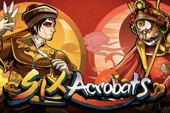 logo six acrobats microgaming slot game