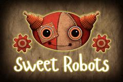 logo sweet robots booming games slot game