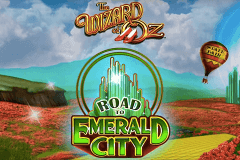 logo the wizard of oz road to emerald city wms slot game