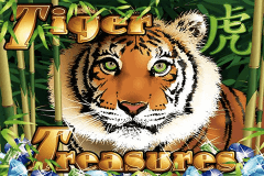 logo tiger treasures rtg slot game