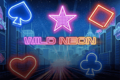logo wild neon push gaming slot game