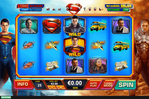 man of steel playtech casino slots