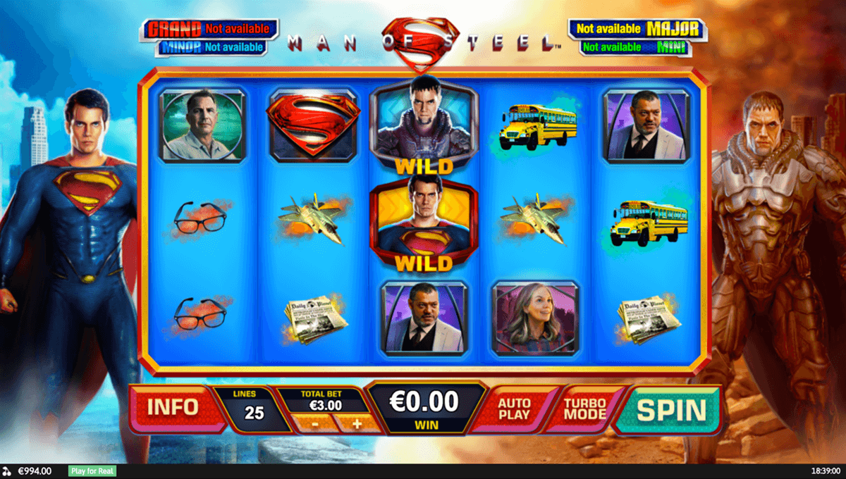 Play Man of Steel Progressive Slots at Casino.com New Zealand