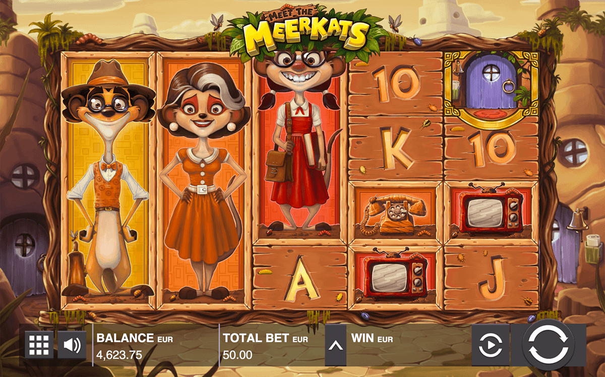 MEET THE MEERKATS PUSH GAMING CASINO SLOTS