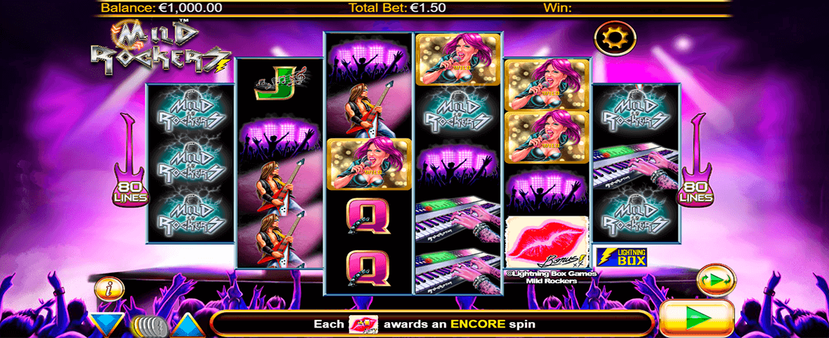 MILD ROCKERS LIGHTNING BOX CASINO SLOTS