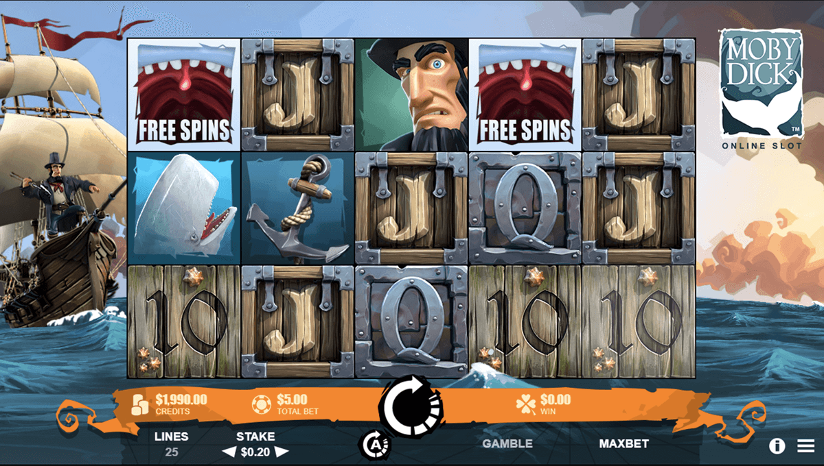 MOBY DICK RABCAT CASINO SLOTS