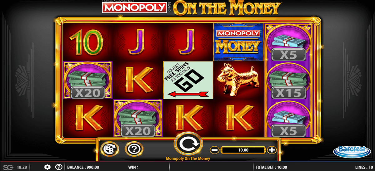 MONOPOLY ON THE MONEY BARCREST CASINO SLOTS