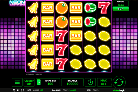 NEON CLUSTER WINS STAKE LOGIC CASINO SLOTS