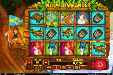NUTS COMMANDER SPINOMENAL CASINO SLOTS