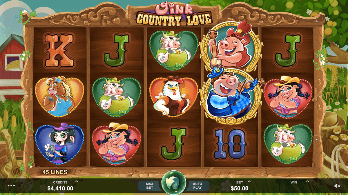 OINK COUNTRY LOVE MICROGAMING CASINO SLOTS