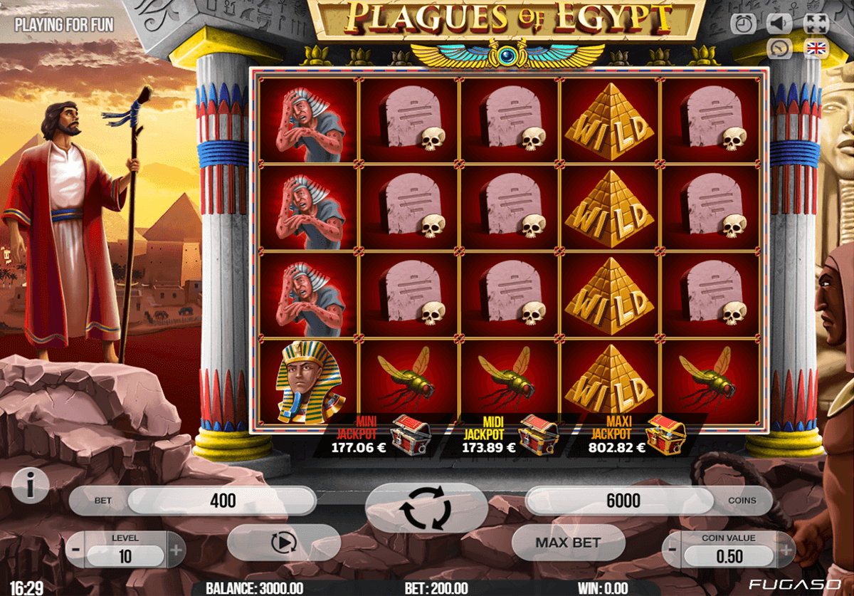 PLAGUES OF EGYPT FUGASO CASINO SLOTS
