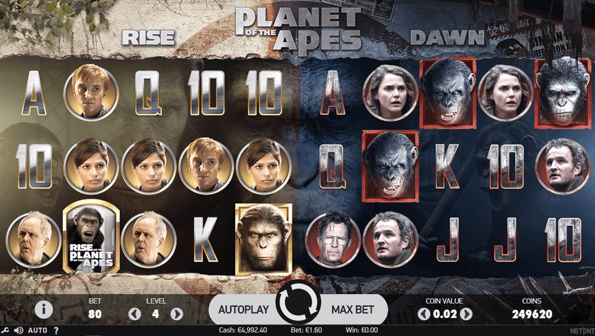 PLANET OF THE APES NETENT CASINO SLOTS