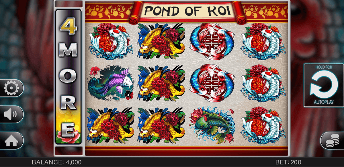 POND OF KOI SPINOMENAL CASINO SLOTS