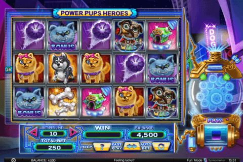 power pups heroes spinomenal casino slots