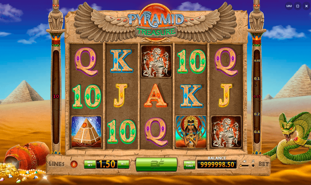 Pyramid Treasure Slots - Now Available for Free Online