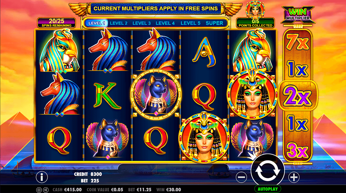free slot games queen of the nile