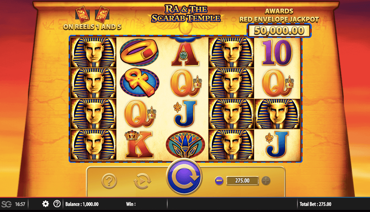 ra and the scarab temple bally casino slots