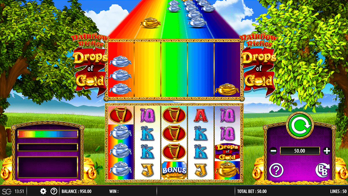 rainbow riches drops of gold barcrest casino slots