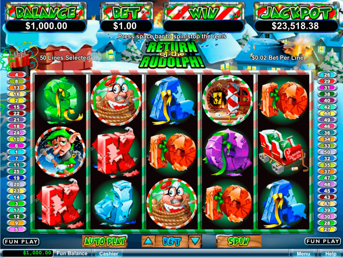 return of the rudolph rtg casino slots