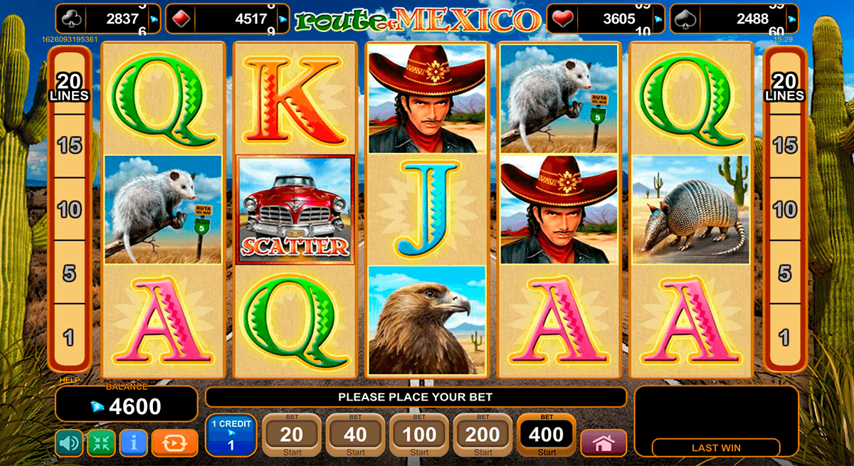 route of mex egt casino slots