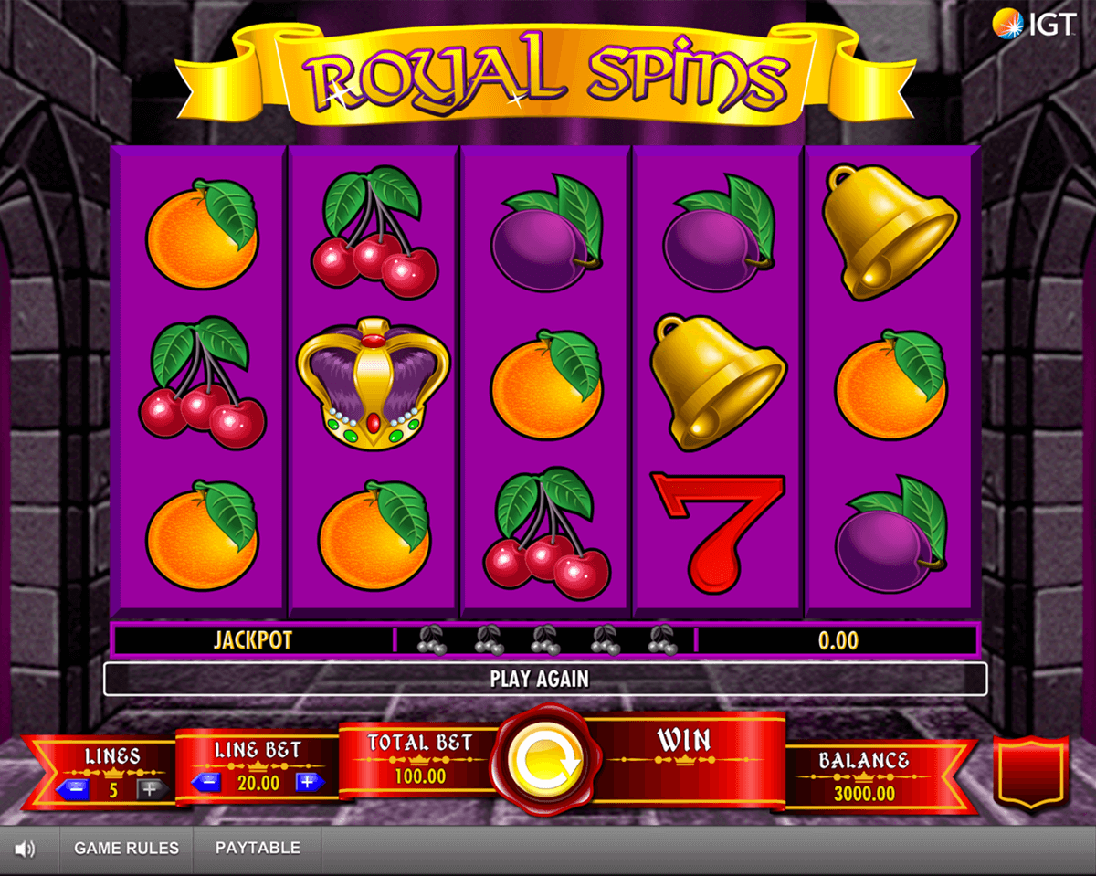 Free royal spins slots play the newest slots for free