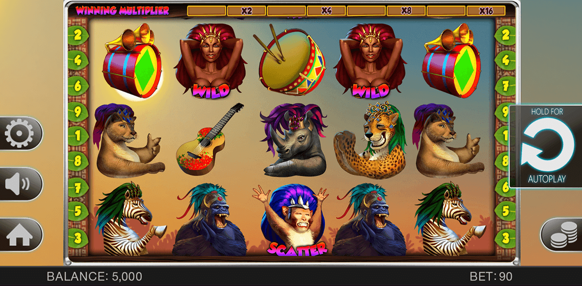 SAFARI SAMBA SPINOMENAL CASINO SLOTS