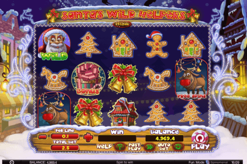 santa wild helpers spinomenal casino slots