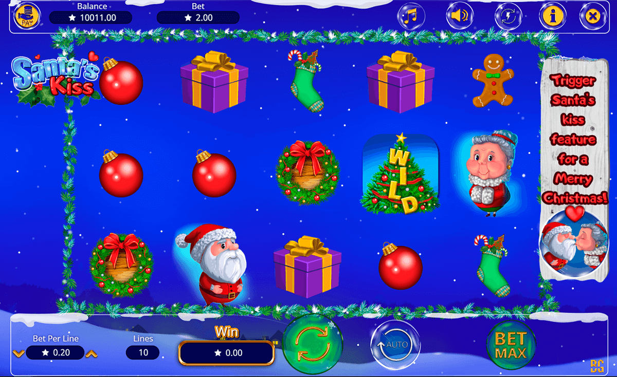 SANTAS KISS BOOMING GAMES CASINO SLOTS
