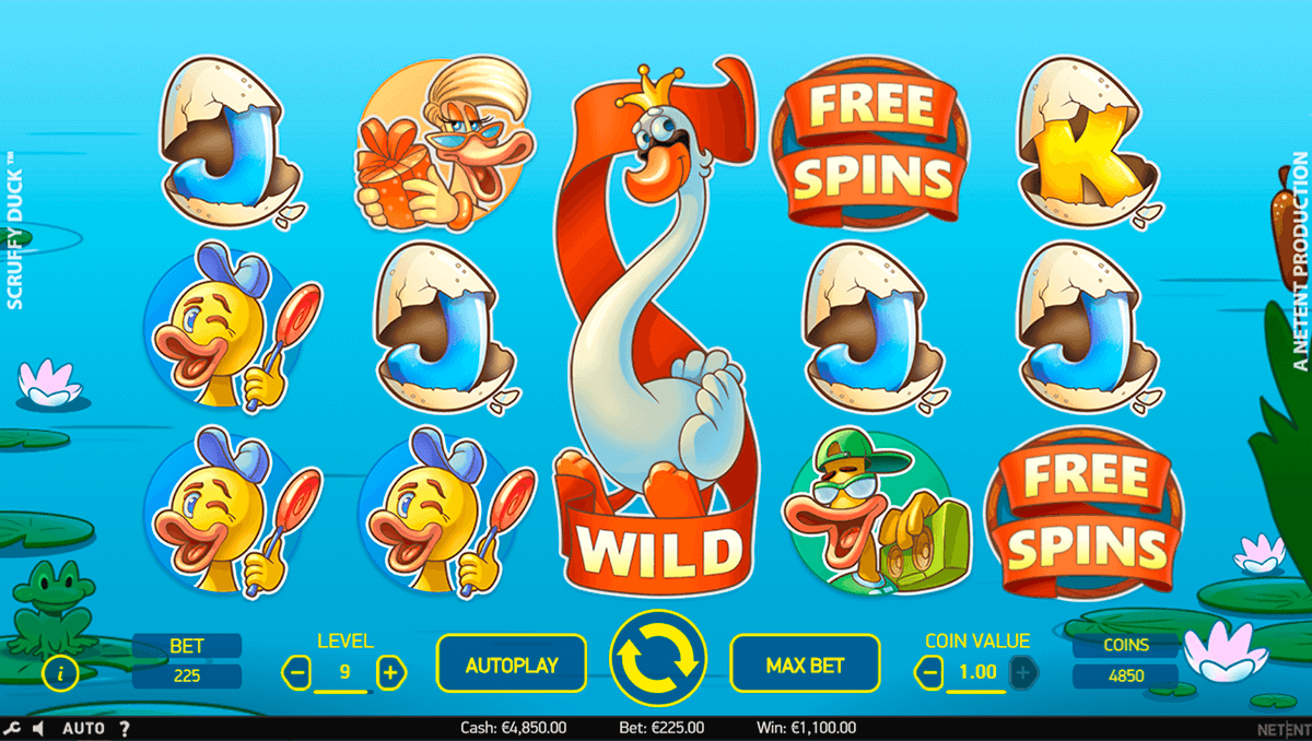SCRUFFY DUCK NETENT CASINO SLOTS