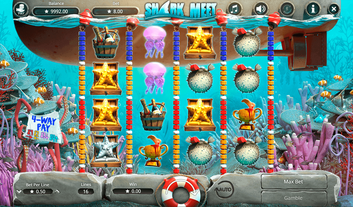 Shaaark™ Slot Machine Game to Play Free in PartyGamings Online Casinos