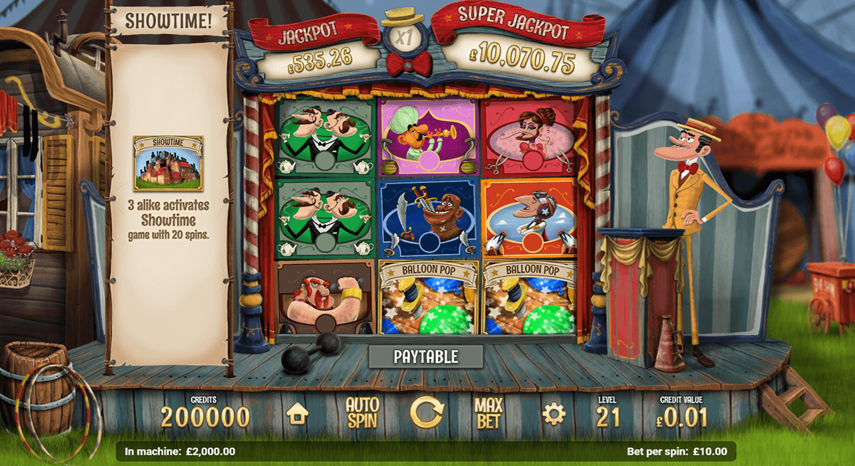 SIDE SHOW MAGNET GAMING CASINO SLOTS