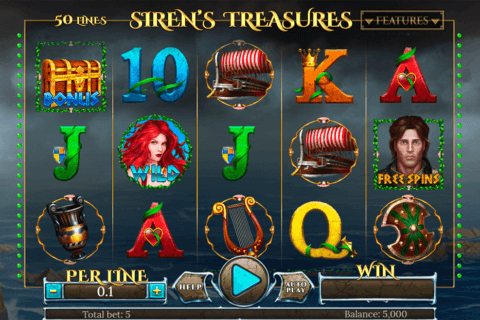 SIRENS TREASURES SPINOMENAL CASINO SLOTS