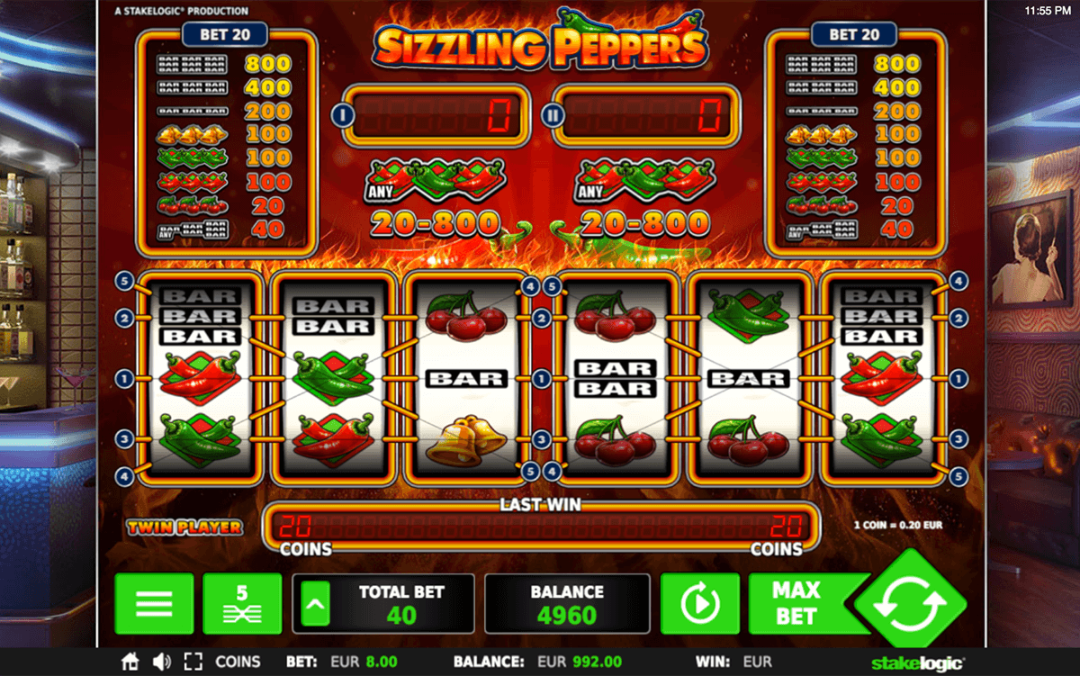 SIZZLING PEPPERS STAKE LOGIC CASINO SLOTS