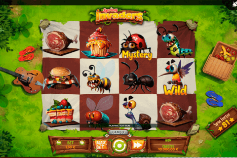 SPRING INVADERS SPINMATIC CASINO SLOTS