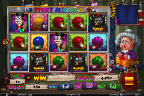 STINKY SOCKS SPINOMENAL CASINO SLOTS